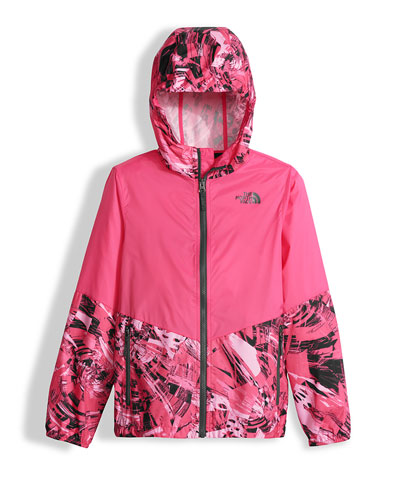 Flurry Wind Hooded Jacket, Pink, Size XXS-L