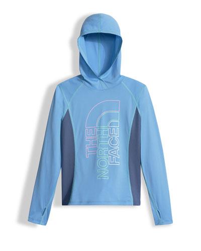 Reactor Hooded Jersey Tee, Blue, Size XXS-L