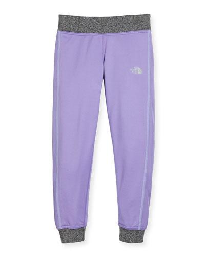 Reactor Lightweight Jersey Track Pants, Purple, Size XXS-L