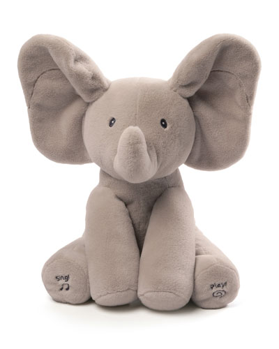 Flappy the Elephant Animated Plush Gray