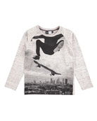 Raldric Long-Sleeve Skateboarder T-Shirt, Sizes 4-12