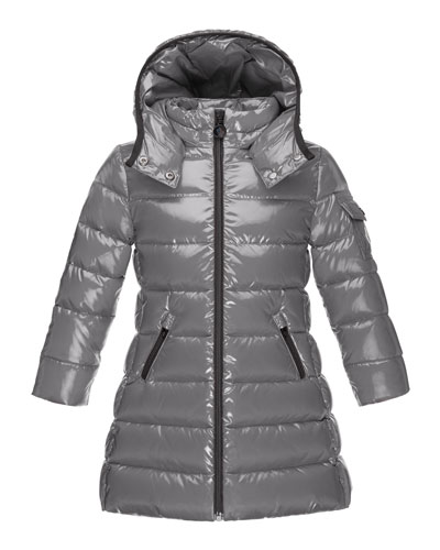 Moka Down Puffer Coat, Gray, Size 4-6