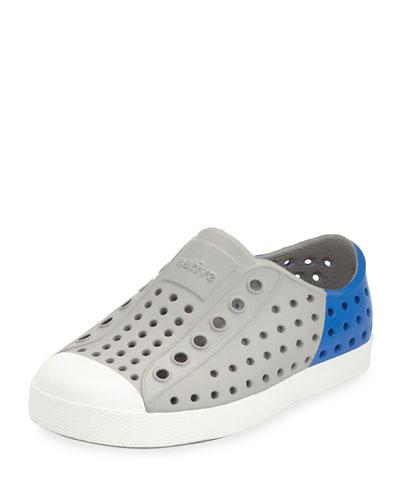 Jefferson Waterproof Colorblock Low-Top Shoe, Gray/Blue, Toddler