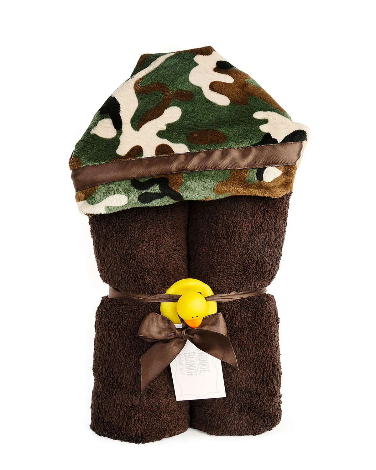 Camouflage Hooded Towel, Brown