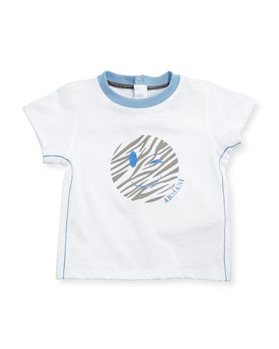 Icon Smile Logo Tee, White, Size 6-24 Months