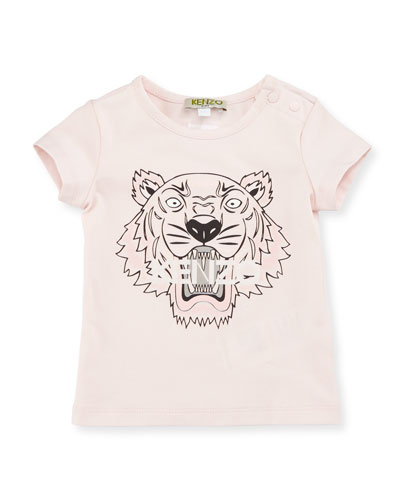 Stretch Jersey Logo Tee, Pink, Size 3-18 Months