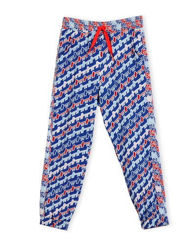 Baya Abstract Track Pants, Royal, Size 2-6