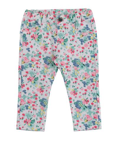 Floral Legging Jeans, Jade/Multicolor, Size 12-36 Months