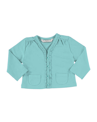 Soft Jersey Cardigan w/ Perfume Tee, Blue, Size 12-36 Months