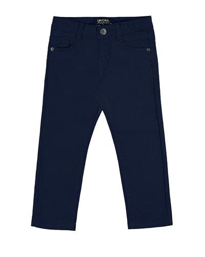 Slim-Fit Stretch Denim Jeans, Blue, Size 3-7