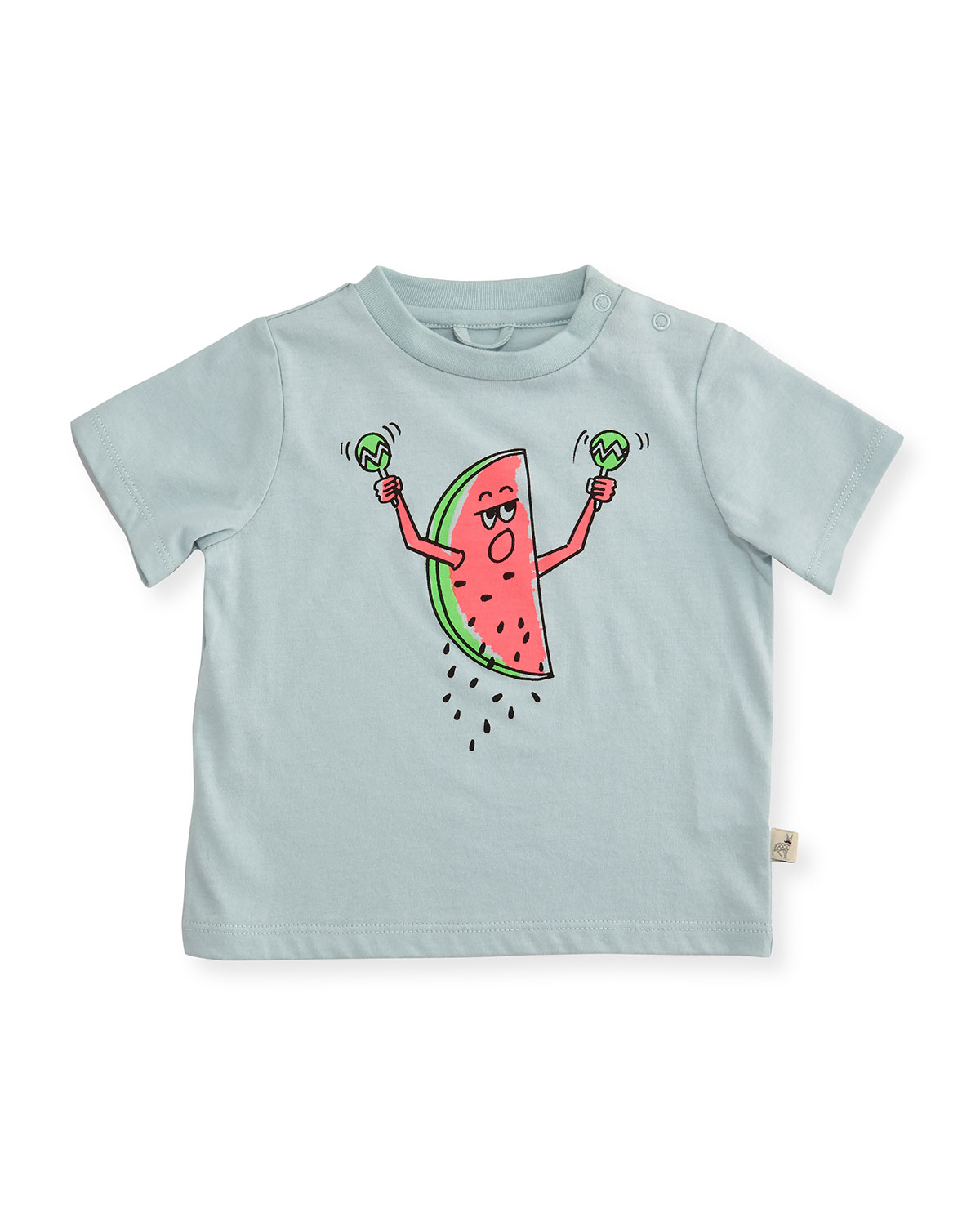 Short-Sleeve Watermelon Jersey Tee, Blue, Size 12-24 Months