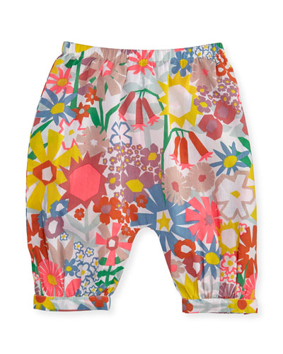 Drew Floral Poplin Pants, Multicolor, Size 12-24 Months