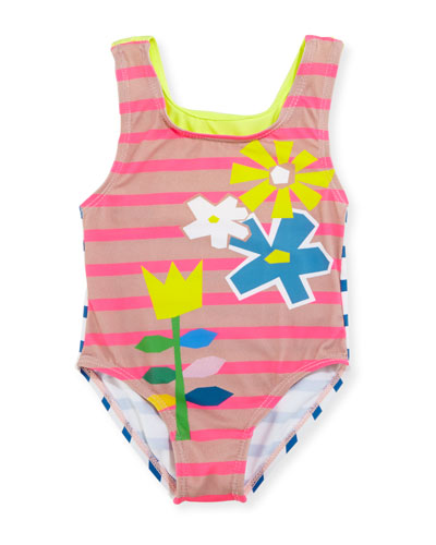 Molly Striped Racerback Swimsuit, Multicolor, Size 12-24 Months