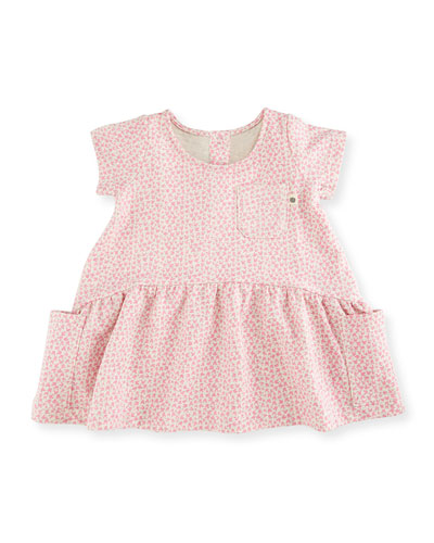 Joolz Smocked Terry Bunny Dress, Pink, Size 6-24 Months