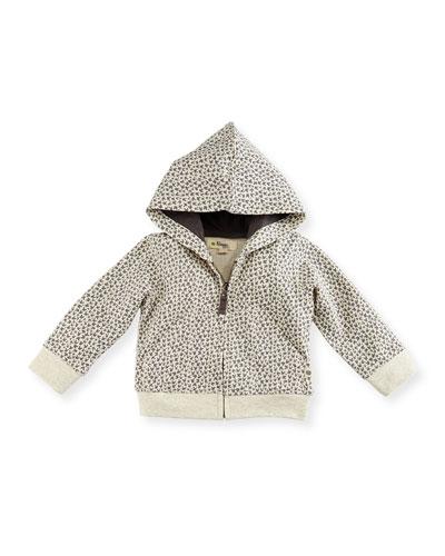 Jackson Hooded Bunny Sweatshirt, Gray, Size 6-24 Months