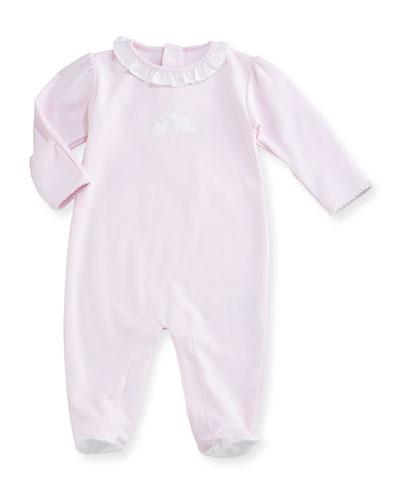 Pique Cottontails Pima Footie Pajamas, Pink, Size 0-9 Months