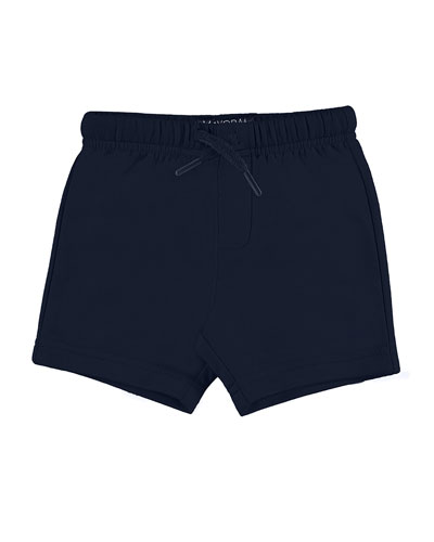 Jersey Drawstring Shorts, Navy, Size 6-24 Months