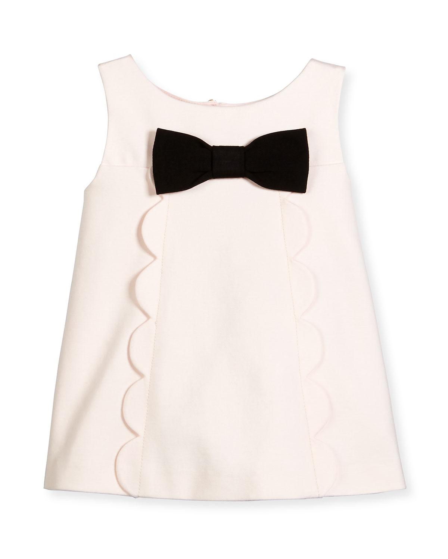 sleeveless scalloped ponte top, blush, size 7-14