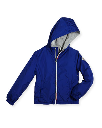 New Urville Zip-Front Raincoat, Size 8-14