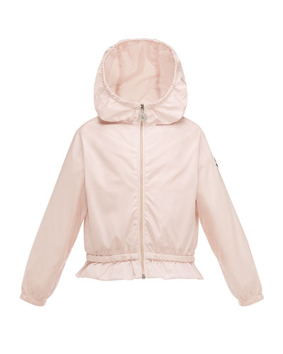 Camelien Short Hooded Lightweight Jacket, Pink, Size 2-3