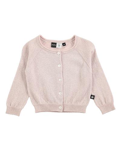 Gladys Metallic Raglan Sweater, Pink, Size 12-24 Months