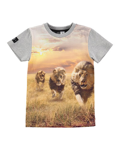 Raven Running Lions Jersey Tee, Gray, Size 2-12