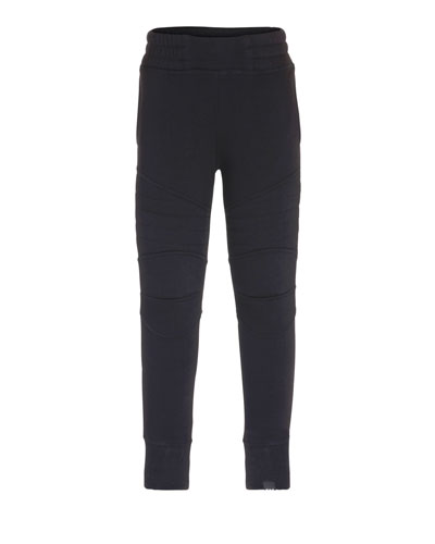 Axl Fitted Biker Sweatpants, Black, Size 4-12