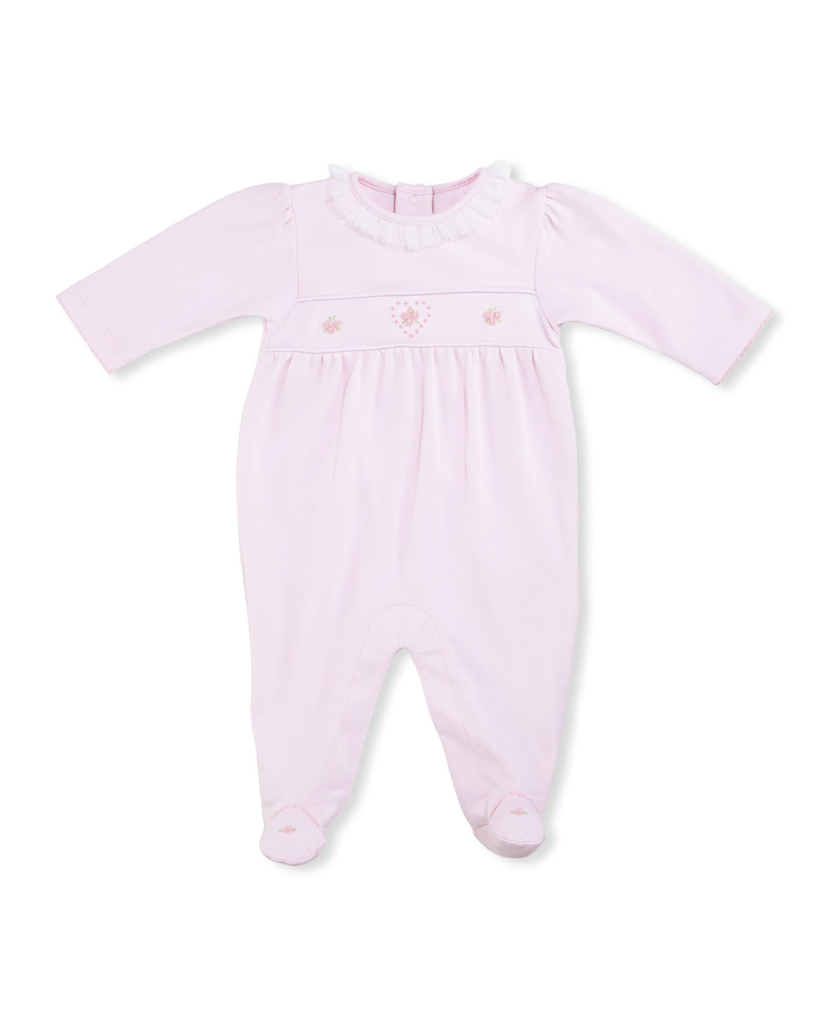 Heart to Heart Footie Pajamas, Pink, Size 0-9 Months