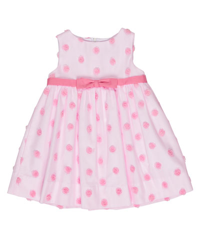 Sleeveless Tulle Rosette Dress, Pink, Size 2T-4T