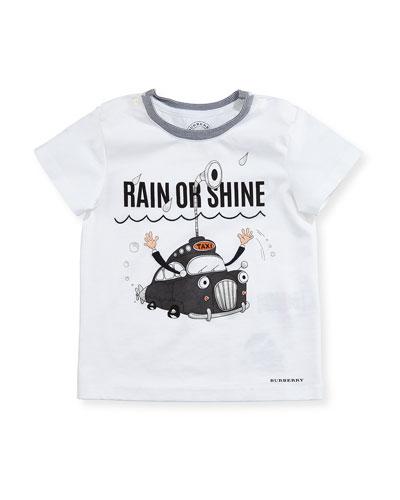 Rain or Shine Cotton T-Shirt, White, Infant/Toddler