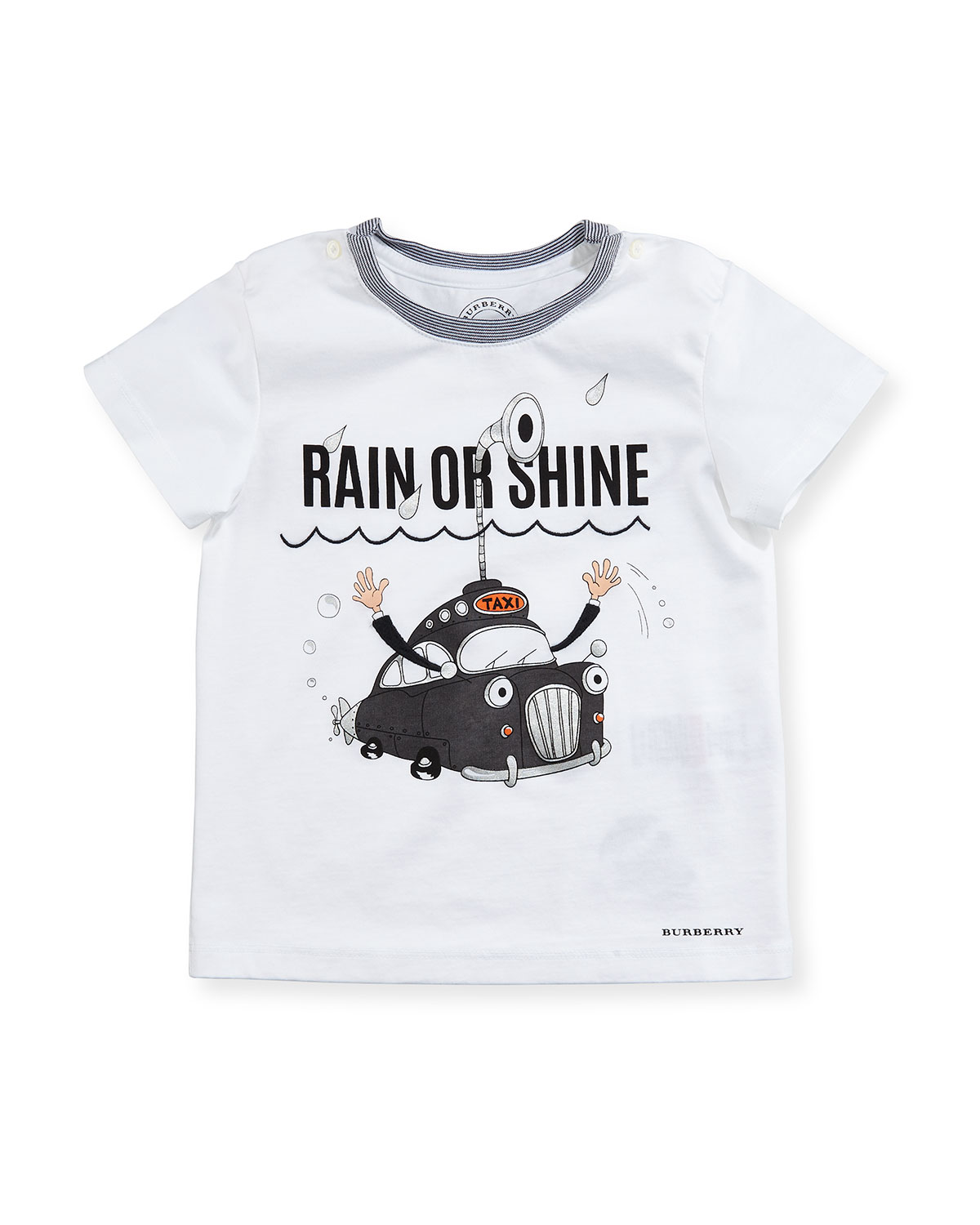Rain or Shine Cotton T-Shirt, White, Infant/Toddler