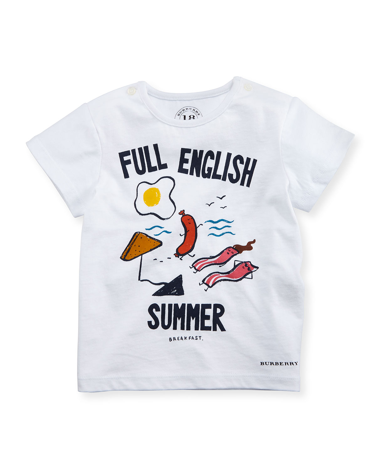 Full English Summer Tee, White, Infant/Toddler