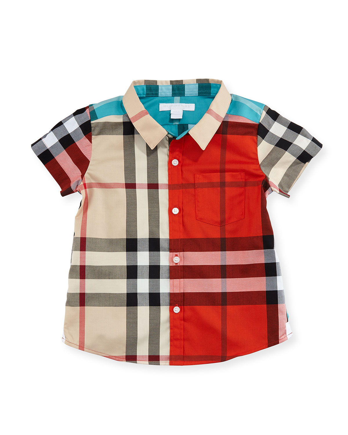 Mini Frederickss Poplin Check Shirt, Neutral Pattern, Infant/Toddler