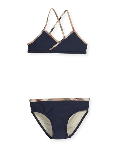 Crosby CrossBack TwoPiece Swimsuit Navy Size 414