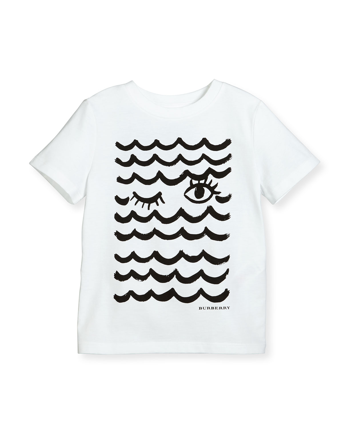 Waves & Lashes Tee, White, 4-14