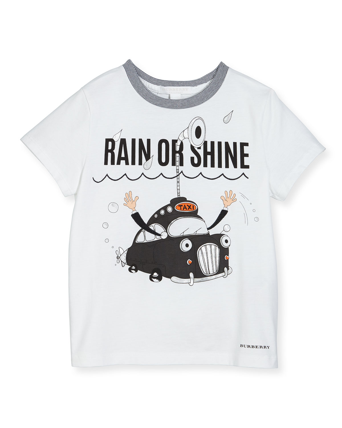 Rain or Shine Cotton T-Shirt, White, 4Y-14Y