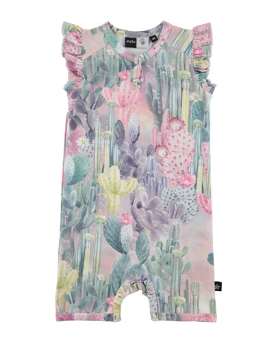 Faris Cactus Overall Playsuit, Pink, Size 3-12 Months