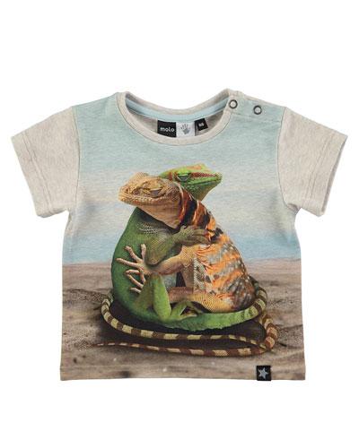 Eddie Geckos in Love Jersey Tee, gray, Size 12-24 Months