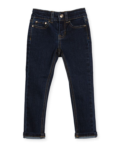stretch denim skinny jeans, indigo, size 7-14