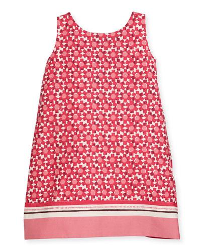 tanner floral tile shift dress, multipattern, size 2-6