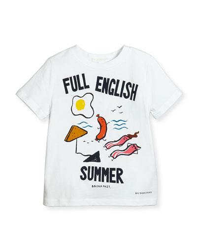 Full English Summer Tee, White, 4-14