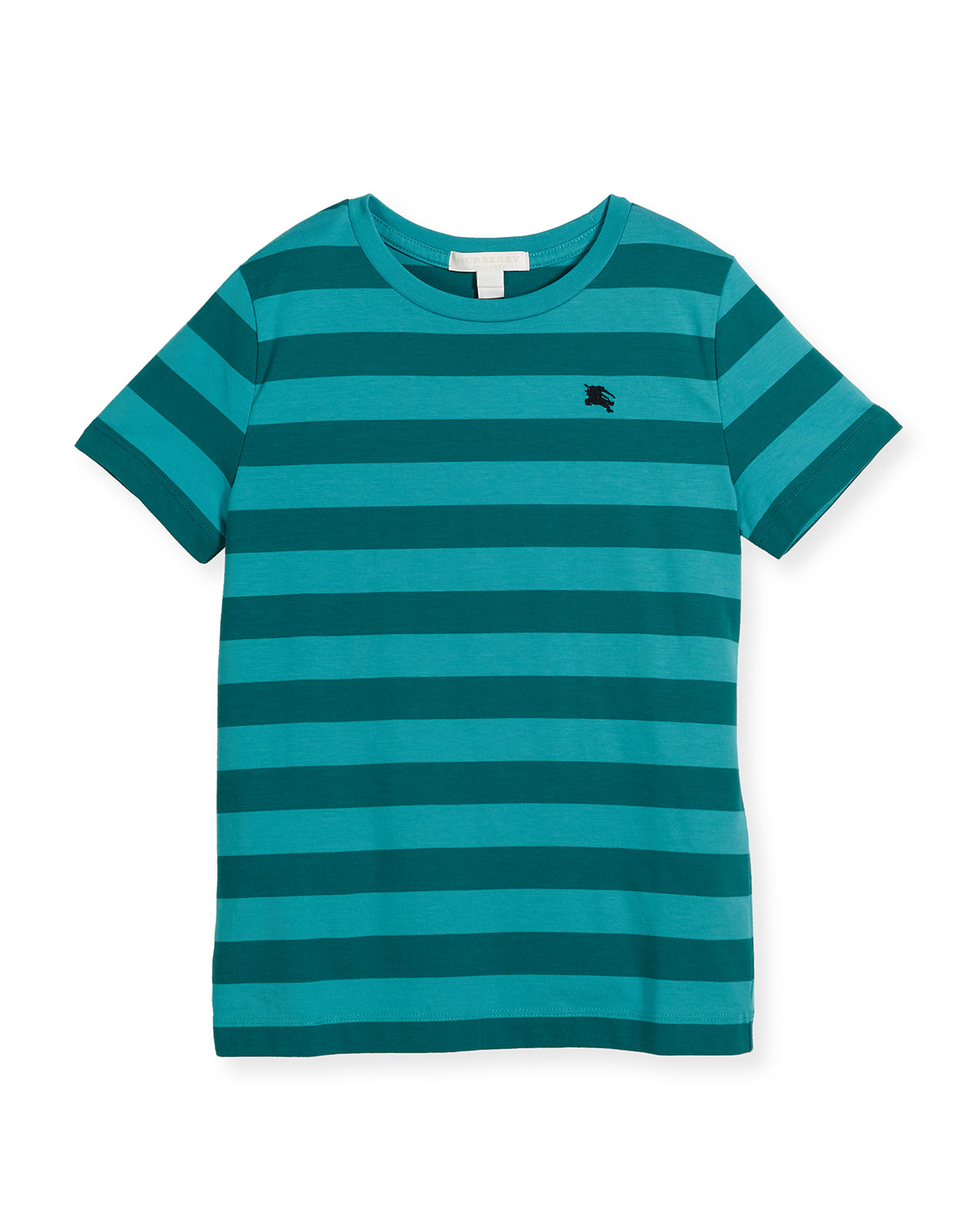 Mini Torridge Striped Jersey Tee, Teal, Size 4-14