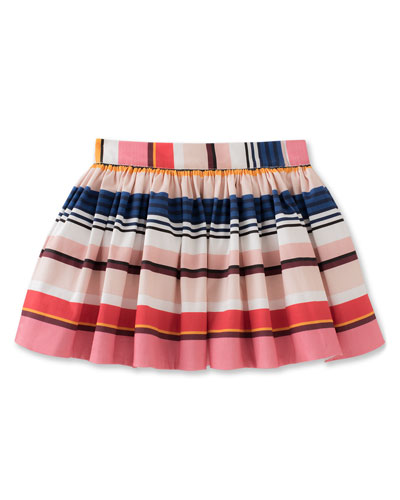 coreen striped stretch poplin skirt, multicolor, size 7-14