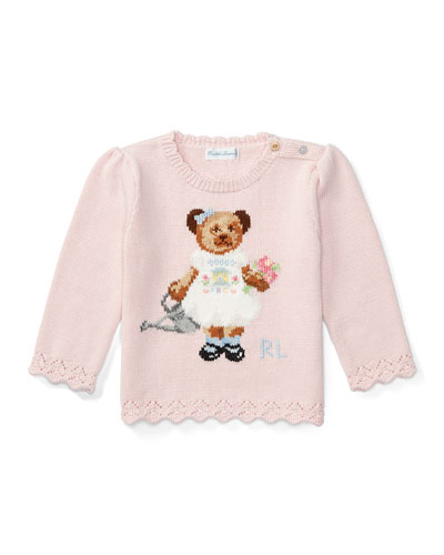 Icon Bear Pullover Sweater, Pink, Size 6-24 Months