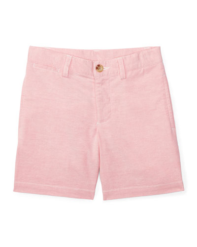 Suffield Stretch Oxford Shorts, BSR Pink, Size 2-4