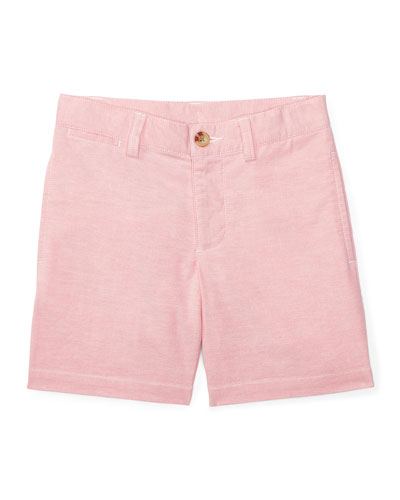Suffield Stretch Oxford Shorts, BSR Pink, Size 5-7