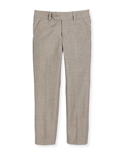 Slim Suit Pants, Light Gray, Size 2-14