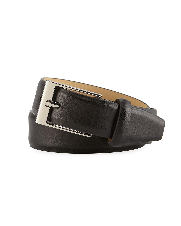 Boys' Faux-Leather Dress Belt