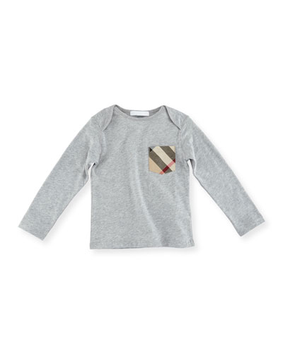 Callum Long-Sleeve Jersey Tee, Size 6M-3Y