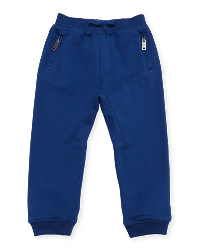 Phill Cotton Track Pants, Blue, Size 6M-3T